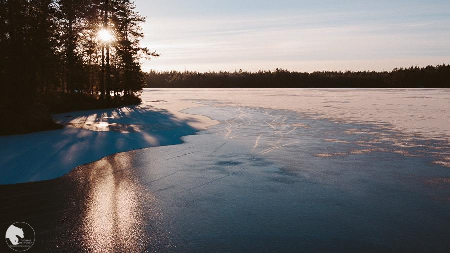 Retkiluistelua Espoossa